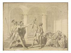 The Oath of the Horatii, according to David - Jean Auguste Dominique Ingres Jacque Louis David, Elegant Words, Auguste, Grisaille, Dominique, Art Database, Ap Art, Art Graphique, Old Master