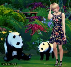 My Sims 4 Blog: Decorative Panda, Owl and Gnome by JenniSims