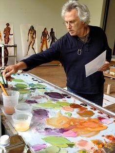 Eric Fischl in his studio