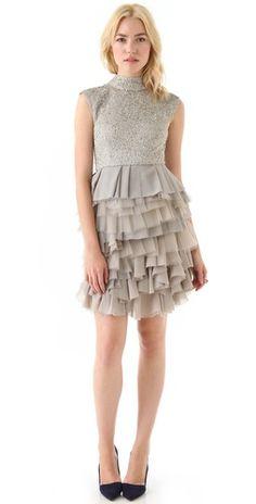 alice + olivia Hattie Sequin Dress | SHOPBOP