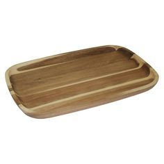 Bring a touch of nature indoors with the Acacia Serving Tray from Threshold™. This rectangular serving tray is elevated by the acacia wood material that suits it for both indoor and outdoor dining. Consider it for drinks, or for holding condiments and finger foods during a dinner on the patio. When it's not in use, this tray can serve as an everyday centerpiece on a coffee or dining table.