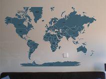 Mapa mundi sticker 054A
