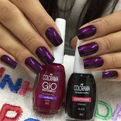 What manicure for what kind of nails? - My Nails Funky Nail Art, Funky Nails, Blue Nails, Trendy Nails, My Nails, Dark Nails, Pedicure Colors, Manicure And Pedicure, Nail Colors