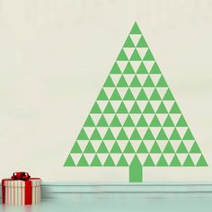 Triangle Tree - Vinyl Wall Art Decal for Homes, Kids Rooms, Nurseries, Preschools, Kindergartens, Elementary Schools, Middle Schools, High Schools, Universities, Colleges   Dana Decals