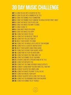 30 Day Music Challenge