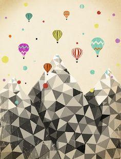 balloon race over the carpathian mountains
