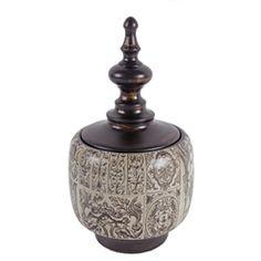 D7.3x12.5 Ceramic Lidded Jar 2EA/CTN