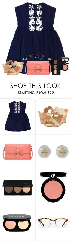 """""""Morning :)"""" by southernstylish ❤ liked on Polyvore featuring Lilly Pulitzer, Jack Rogers, Tory Burch, Smashbox, Armani Beauty, Bobbi Brown Cosmetics, Ace and Finn"""