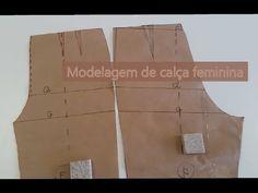 Modelagem de calça básica feminina - YouTube Dress Sewing Patterns, Pattern Making, Sewing Hacks, Planer, Youtube, Projects To Try, Shorts, Sew Dress, Skinny