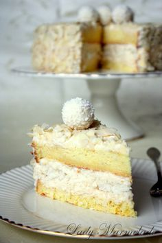 Lady Marmelade: Raffaello torta z neba Rafaelo Cake, Breakfast Bake, Vanilla Cake, Cheesecake, Food And Drink, Baking, Sweet, Recipes, Cakes