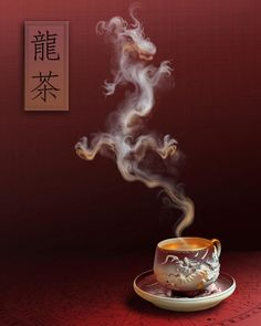 These tea dragons are unique. Most of us dragons do not enjoy the tea. We prefer a more meat-oriented beverage. Chinese Tea, Chinese Dragon, Chai, Pu Erh, Tee Kunst, Dragons, Dragon Tea, Year Of The Dragon, Fantasy Dragon