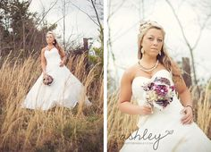 Bride in Field - Photography by A Photo by Ashley