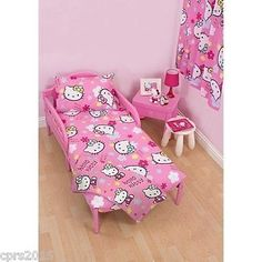 #Hello kitty #ditsy junior duvet set #suitable for toddler junior & cot bed,  View more on the LINK: 	http://www.zeppy.io/product/gb/2/401071804220/