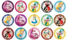 30 x Alice In Wonderland Edible Image Wafer Paper Cupcake Toppers (Pre Cut) Alice In Wonderland Clipart, Alice In Wonderland Tea Party, Paper Cupcake, Wafer Paper, Baby Washcloth, Borders For Paper, Bottle Cap Images, Mad Hatter Tea, Cupcake Toppers
