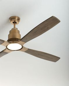 Shop Ricasso Indoor Ceiling Fan at Horchow, where you'll find new lower shipping on hundreds of home furnishings and gifts. Gold Ceiling Fan, Unique Ceiling Fans, Ceiling Lights, Decorative Ceiling Fans, Contemporary Ceiling Fans, Ceiling Fan Chandelier, Living Room Ceiling Fan, Ceiling Fan Makeover, Led Light Kits