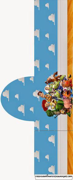 Toy Story 3: Etiquetas Candy Bar para Imprimir Gratis.