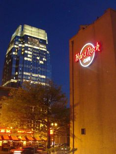 Outside the Hard Rock Cafe in Nashville, TN.  Photo credit: Joy Huber