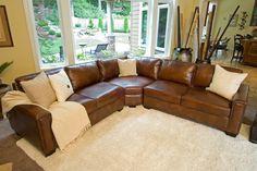 Furniture ELEMENTS Fine Home Furnishings ELM-CAR-SEC-LAFL-RAFL-CS-RUST-1 Sectional Sofas