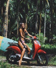 Scooter Girl Girls Life, Girls Dream, Siargao Island, Skate Girl, Learn To Surf, Surf Trip, Scooter Girl, Hot Bikes, Surf Girls