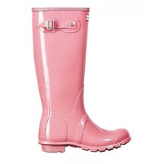 Gummistiefel Hunter Original Wellington Tall Gloss Rosa
