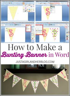 Free Banner Template Word Unique How to Make A Bunting Banner In Word with Clip Art Tips Pennant Banner Template, Free Banner Templates, Diy Banner, Pennant Banners, Printable Banner, Origami Templates, Box Templates, Banner Crafting, Free Printables