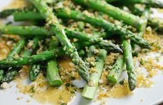 British Asparagus with vinaigrette and toasted herby breadcrumbs