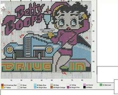 BETTY BOOP AT THE DRIVE IN -- WALL HANGING