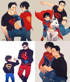 Mundo Superman, Batman Y Superman, Superman Man Of Steel, Marvel Dc Comics, Superhero Family, Superman Family, Bat Family, Superboy Young Justice, Steel Dc Comics