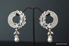 UK Seller Bollywood Indian Partywear BIG LONG earring bridal traditional