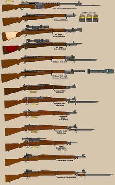 US Battle Rifles by BigChiefCrazyTalk on DeviantArt Ww2 Weapons, Battle Rifle, Weapon Concept Art, Cool Guns, Military Weapons, Panzer, Guns And Ammo, War Machine, Revolver
