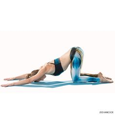 A cross between Child's Pose and Downward Facing Dog, Extended Puppy Pose lengthens the spine and calms the mind.