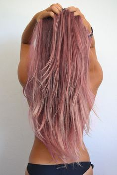 Pink hair, without all the bleaching... Mine would turn out this color, maybe a little lighter and pinker. I honestly think I'm going to do this!
