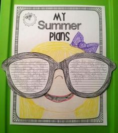 My Summer Plans Writing Craftivity – Buchstaben Lernen Kindergarten Writing, Teaching Writing, Writing Activities, Daily 5, First Grade Writing, Writing Lessons, Writing Ideas, Teaching Language Arts, Writer Workshop