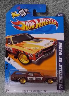 2012 HOT WHEELS  SUPER TREASURE HUNT - '70 CHEVELLE SS WAGON.