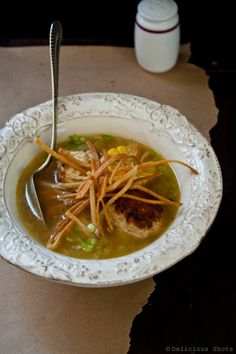 Chicken Meatball Soup - #chicken #meatball