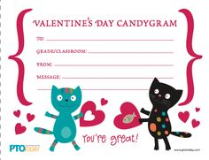 It's time for candy grams! Download for free from the PTOToday.com File Exchange.