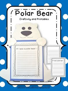 Free Polar Bear Writing Frames and Paper | Polar Bears, Writing and ...