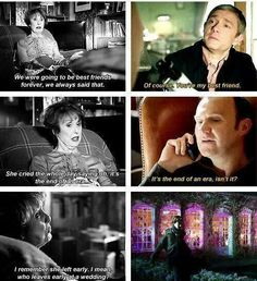 She was talking to Sherlock about her best friend as a third wheel and then it happened to him :(
