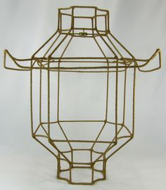 Lamp shade wire frame for table floor pendant lamp chinese pagoda lamp shade frame pagoda for floor pendant hanging fixture custom made nyc greentooth Gallery