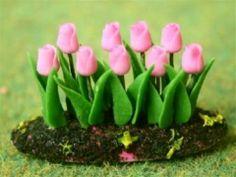 D3357 Pink Tulip Flower Bed $6.05