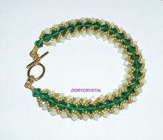 Bracciale cristallo Swarovski fatto a mano handmade Swarovski crystal bracelet