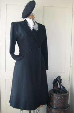 Cavalry twill coat made from an original pattern