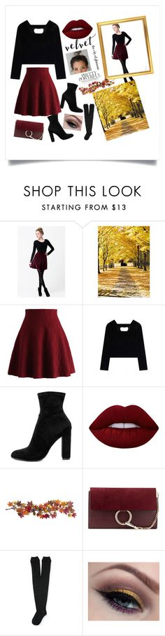 """""""Untitled #19"""" by amoydesiree ❤ liked on Polyvore featuring Chicwish, WithChic, Steve Madden, Lime Crime, Nearly Natural, Chloé, Aéropostale and H&M"""