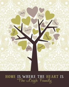 Personalized Family Tree Choose your own color by InvitingMoments