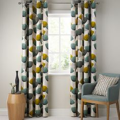 Buy Sanderson Dandelion Clocks Pair Lined Eyelet Curtains, Neutral from our Ready Made Curtains & Voiles range at John Lewis & Partners. Neutral Curtains, Green Curtains, Panel Curtains, John Lewis Curtains, Dandelion Clock, Types Of Curtains, Up House, New Living Room, Living Room