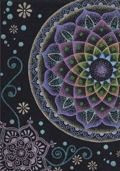 Mandala and Mehndi by kiiabuno, via Flickr