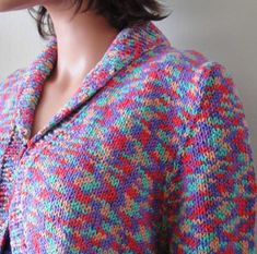 Shawl Collar Bolero Knitting Pattern