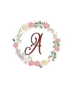 'Monogram Y Lovely Pink White Roses' Sticker by floralmonogram White Roses, Pink Roses, Pink Flowers, Pink White, Free Printable Art, Girl Baby Shower Decorations, Monogram Shirts, Floral Letters, Monogram Design