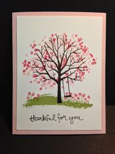 Sheltering Tree, Thank You Card, Stampin' Up!, Rubber Stamping, Handmade Cards