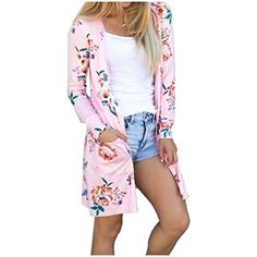 89a04e1dd6 Womens Boho Long Sleeve Wrap Kimono Cardigans Casual Coverup Coat Outwear     Check this awesome product by going to the link at the image.